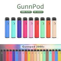gunnpod 일회용 전자 담배 2000 퍼프 vape 펜 장치 키트 1250mAh 배터리 8ml 프리 퀼트 포드 카트리지 최대 기화기 바 퍼프 플러스 XXL Bang