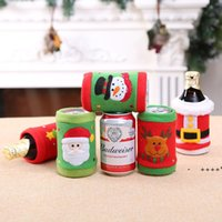 Creative Christmas Decorations Brushed Fabric Beverage Bottle Cover Wine Bottle Covers Coke Soda Protective Shell RRB11108