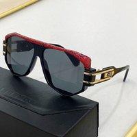 قضاء الأفعى الجلد 163 الأعلى الفاخرة عالية الجودة مصمم النظارات الشمسية للرجال النساء جديد بيع العالم الشهير تصميم الأزياء سوبر ماركة نظارات الشمس العين الزجاج الحصري