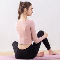 Yoga Kleid Frauen Herbst Mode Temperament Herbst und Winter Neue Schnelle Trocknung Sportswear Fitnessanzug Rückennähte Mesh Langarm