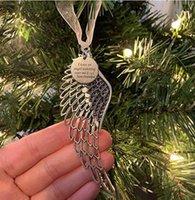 عيد الميلاد الحلي ملاك الجناح جرس سحر تخصيص حلية تذكارية لفقدان أحبائهم مستوحاة القلب هدية تذكارية XMASFWD10296