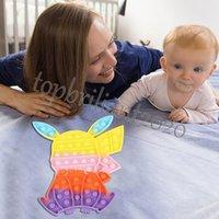 Más nuevo Push Bubble Fidget Toys Rabbit Puzzle Tablero Tablero de descompresión Juguetes Juguetes Educativos Sensor de Dedo DHL Envío
