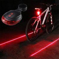 Lumières de cyclisme à vélos Étanche 5 LED 2 LASERS 3 modes TAILLIGHT SÉCURITÉ AVERTISSEMENT AVERTISSEMENT DE VOYEUR DE VOYEUR ARRIÈRE ARRIÈRE ARRIENT INTERIOREXTERNAL