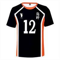 Haikyuu اليابان أنيمي تأثيري حلي الرجال قمم فوكوردياني الكرة الطائرة نادي عارضة الأزياء 3d طباعة تي شيرت msby
