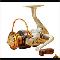 도매 EF1000-7000 12BB 5dot5 : 신선한 / 소금물 바다 낚시를위한 금속 회전 낚시 릴 비행 휠 릴 잉어 낚시 방사