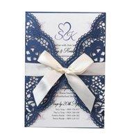Gold Silver Glitter Laser Cut Pocket Invitation For Wedding Bridal Shower Engagement Wedding Accessory Blank Inner Customized Birthday Cards