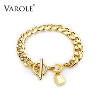 VAROLE Cute little lock Bracelet Femme Gold Color Bracelets For Women Armband Fashion Jewelry Friends Gifts