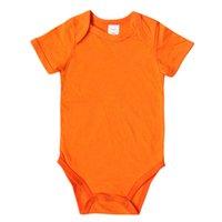 2021 Baby Rompers Многоцветный с коротким рукавом здоровый хлопок новорожденные комбинезоны Многоцветные младенческие цельные одежда 0-12 м
