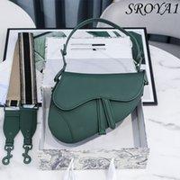 2021 Borsa a sella in pelle di modo Luxury All-Match Elegante borsa diagonale a una spalla