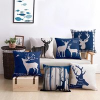 Modern Simple Linen Pillow Case Square Home Decoration Sofa Seat Living Room Guestroom Soft Cushion Cover 45*45 cm