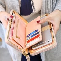 الولايات المتحدة أكبر مورد المرأة bowknot محفظة طويلة محفظة حامل بطاقة الهاتف مخلب جيب سعة كبيرة