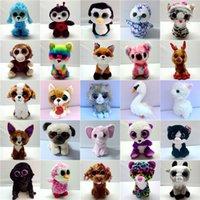 Grandi occhi Peluche Giocattoli di Peluche Kawaii Animali farciti Piccoli sigilli Penguin Dog Cat Panda Mouse Bambola per bambini Giocattolo Regali di Natale