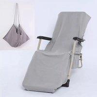 해변 의자 커버 9 색 라운지 의자 담요 스트랩 수건으로 휴대용 이중층 두꺼운 담요 GGA4384
