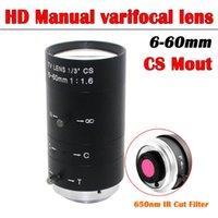 Lens HD Megpixel 6-60mm CS C Mount CCTV Manual Zoom Iris Long Focal Length For Industrial COMS CCD Box USB Camera
