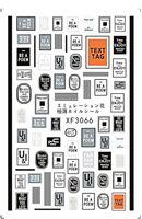 Prego Adesivo Estilo Estilo Auto-adesivo Cores Pretas Logotipo DIY Nails Art Decalques