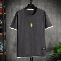 T-shirt de mode à col rond de la jeunesse Sports de plein air dessin animé d'impression d'été décontracté à manches courtes