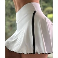 40 Sexy Skinny Shorts Fitness Womens Skirts Gym High Waist Short Legging Ladies Sport Workout Tight Athletic Pant Skirt