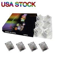 Rgb cube lumières décor de glace cubes flash liquide capteur eau submersible LED bar Light Up for club mariage fête USA USA