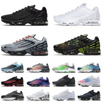 Top Quality Tn Plus 3 Tuned 2 Running Shoes For Mens Wolf Grey Triple Black White Laser Blue Ghost Green Neon Men Women Sports Sneakers Fashion Trainers Size 36-46