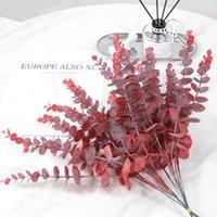 Simulation plante feuille décoration fleur de haute qualité plastique eucalyptus matériau mariage maison décoration NHA5350