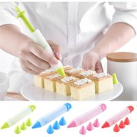 Siliconen Voedsel Schrijven Pen Chocolade Decorating Tools Cakevorm Cream Cup Cookie Icing Piping Pastry Nozzles Keukenaccessoires HW8021