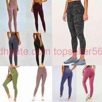 Lulu Cintura alta 32 016 25 78 Womens Sweatpants Yoga Calças Gym Leggings Elastic Fitness Lu Lady Geral Caldeiras completas Trabalho VFU O5xs #