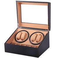 시계 상자 케이스 4 + 6 권선 고품질 와인 더 모터 정지 자동 보석 디스플레이 캐비닛 상자 배터리 와인더 Remontoir