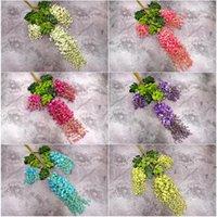 등나무 결혼식 장식 인공 장식 꽃 garlands 축제 파티 웨딩 홈 소모품 멀티 색상 110cm / 75cm FWD7627