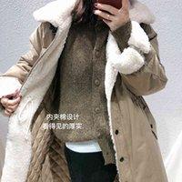 Femme's Down Parkas Moioirue Automne Hiver Harajuku Parka Veste de stationnement Femmes Femmes Vêtements d'impression en coton rembourré en coton