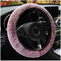 Steering Wheel Covers For Women Female Drivers Car Soft Long Plush Genuine Winter Warm Decoration Auto Accessories Interior