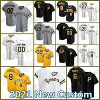 8 Willie Stargell 55 Josh Bell Piratas personalizadas Jersey 21 Roberto Clemente Pittsburgh Béisbol 6 Starling Marte Parker Archer 27 Tekulve
