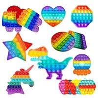 Push Pop Fidget Toy Rainbow Bubble Sensory Autism Special Needs Stress Reliever It Squeeze Sensory Toy for Kids Family