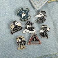 Plague Doctor Enamel Brooch Pin Beak Face Brooches Custom Badges Bag Lapel Pins Buckle Cool Jewelry Gift for Nurse Friends