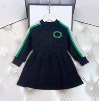 Fashion Designer Children Girls Dress Summer baby Long sleeve skirt Patchwork Blouse Dresses Infant Birthday gift kids Clothes 2-7 year