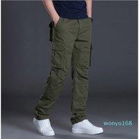 2021 Autumn Mens Cargo Pants Casual Mens Pant Baggy Regular Cotton Trousers Male Combat Tactical Pants Multi Pockets