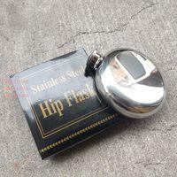 5oz Stainless Steel Hip Flask Portable Outdoor Flagon Whisky Stoup Wine Pot Alcohol Bottles Mini Round Men Pocket Hip Flasks DBC DH0870