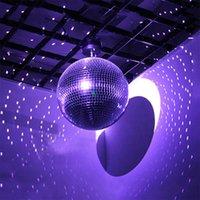 Chandelier Crystal 20cm Mirror Disco Stage Light Rotating Glass Ball Big Party Decorations Colorful Balll Ktv Bar Dj Lighting Reflection