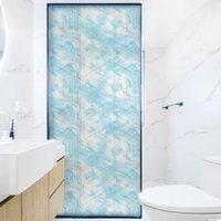 Dktie Mattglas Film Fantasie Ozean Gemalt Elektrostatischer Fenster Aufkleber Schlafzimmer Home Decoration BLT3006
