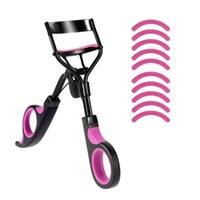 Rzęsy Curler Curl Eye Lash Kosmetyczne Makijaż Curling Pincety Narzędzia Uchwyt z 10 silikonowymi podkładkami zastępczymi