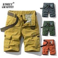 Primavera verão homens cargas shorts relaxado fit calções bermudas calças casuais roupas sociais