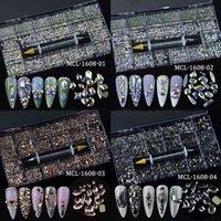 Kristal Nail Art Rhinestone Manikür Aksesuarları 3D Akrilik Glitter Rhinestones Taşlar Boncuk Karışık Şekil DIY Craft