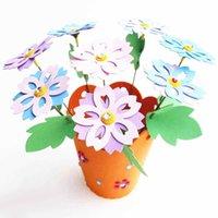 Niños educativos DIY DIY EVA EVA Flowerpot Decoración del hogar Personalizado Jigsaw Juguete Regalo Niños Niño Artesanía Puzzle Kits de juguete