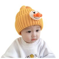 Children's beanie autumn winter baby knitted warm hat cute ear protection wool hats boys fashion casual skull cap cover up multicolor