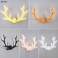 Wall Lamp Colorful LED Antlers For Home Decoration Simple Aisle Modern Bedroom Bedside Living Room Children's Lights