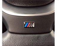 16*7mm Sport Wheel Badge 3D Emblem Sticker Decals Logo For bmw M Series M1 M3 M5 M6 X1 X3 X5 X6 E34 E36 E6 car styling stickers