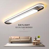 Modern LED Tavan Işıkları Yatak Odası Ofis Koridor Siyah ve Beyaz Minimalizm Ev Dikdörtgen Lambası Armatürleri