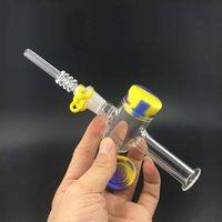 14mm 18mm NECTAR Collector Kit Wax Kit mini NC Set Set DAB Strutture DAB con chiodo di quarzo articolare Piccoli impianti di petrolio Acqua Tubo acqua e barattolo in silicone