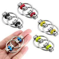 100pcs / DHL Fidget Bague de la chaîne de vélo de vélo Flip Spinner Spinner Porte-clés ADHD Sensor Sensory Stress Relief Soulagement Roi Doigt Fun Toy H39XE77