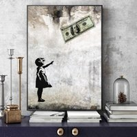 Paintings Street Art Banksy Graffiti Canvas Decorative Painting Posters And Print Wall Pictures For Living Room Decor