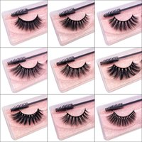 Wholesale Eyelashes With Tweezers and Brush Set Natural Lashes 3D Faux Cils Makeup Tools Long Soft Lash For Beauty